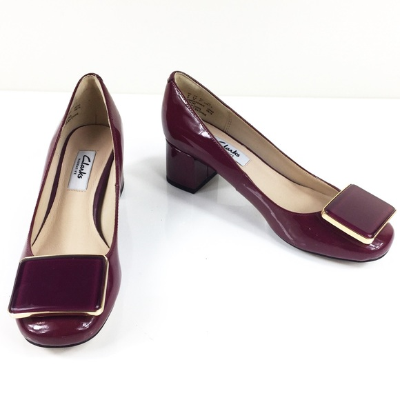 ancla sobras Perfecto  Clarks Shoes | Nwob Narrative Chinaberry Fun Burgundy Pump | Poshmark